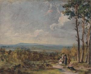 Hampstead Heath, Looking towards Harrow 1821